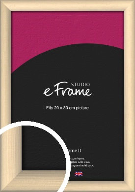 Refined Scandinavian Natural Wood Picture Frame, 20x30cm (8x12