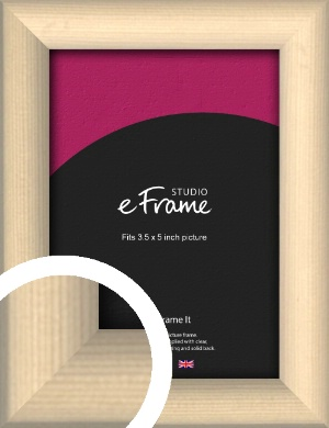 Refined Scandinavian Natural Wood Picture Frame, 3.5x5