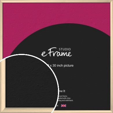 Refined Scandinavian Natural Wood Picture Frame, 30x30