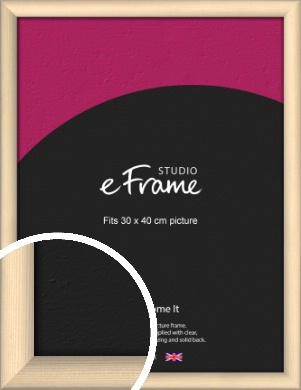 Refined Scandinavian Natural Wood Picture Frame, 30x40cm (VRMP-436-30x40cm)
