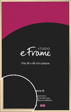 Refined Scandinavian Natural Wood Picture Frame, 30x48