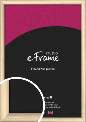 Refined Scandinavian Natural Wood Picture Frame, A3Plus (VRMP-436-329x483mm)