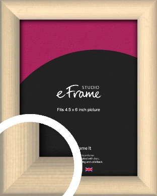 Refined Scandinavian Natural Wood Picture Frame, 4.5x6