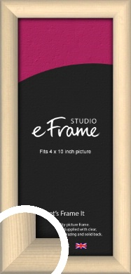 Refined Scandinavian Natural Wood Picture Frame, 4x10