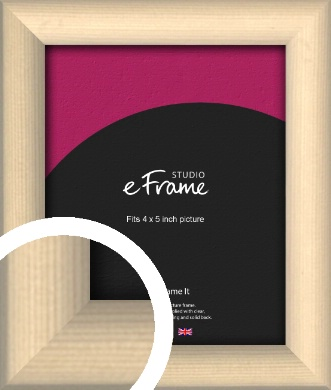 Refined Scandinavian Natural Wood Picture Frame, 4x5