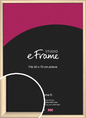Refined Scandinavian Natural Wood Picture Frame, 50x70cm (VRMP-436-50x70cm)