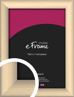 Refined Scandinavian Natural Wood Picture Frame, 5x7