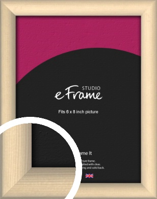 Refined Scandinavian Natural Wood Picture Frame, 6x8