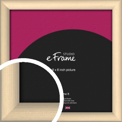 Refined Scandinavian Natural Wood Picture Frame, 8x8