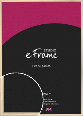 Refined Scandinavian Natural Wood Picture Frame, A0 (841x1189mm) (VRMP-436-A0)