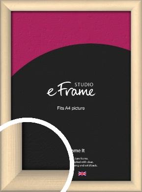 Refined Scandinavian Natural Wood Picture Frame, A4 (210x297mm) (VRMP-436-A4)