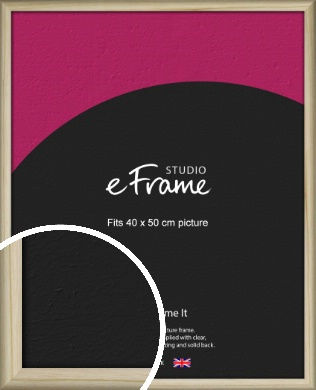 Rounded Rustic Natural Wood Picture Frame, 40x50cm (VRMP-862-40x50cm)
