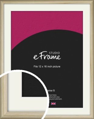 Rounded Rustic Natural Wood Picture Frame & Mount, 12x16
