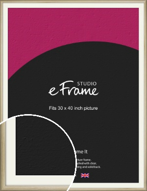 Rounded Rustic Natural Wood Picture Frame & Mount, 30x40