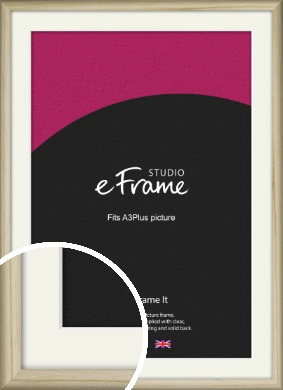 Rounded Rustic Natural Wood Picture Frame & Mount, A3Plus (VRMP-862-M-329x483mm)