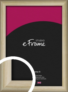 Rounded Rustic Natural Wood Picture Frame (VRMP-862)