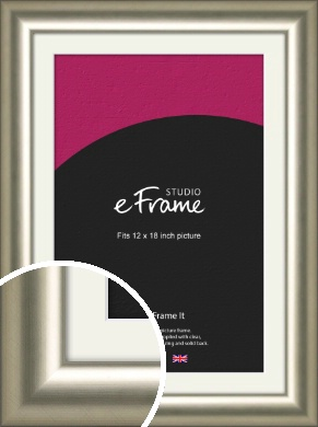 Classy Silver Picture Frame & Mount, 12x18
