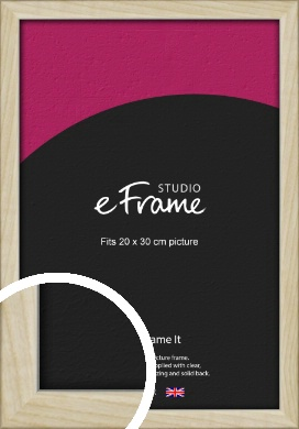 Sugarberry Natural Wood Picture Frame, 20x30cm (8x12