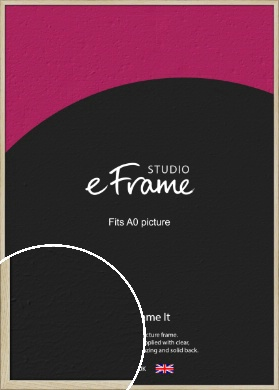 Sugarberry Natural Wood Picture Frame, A0 (841x1189mm) (VRMP-865-A0)