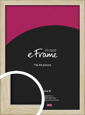 Sugarberry Natural Wood Picture Frame, A4 (210x297mm) (VRMP-865-A4)