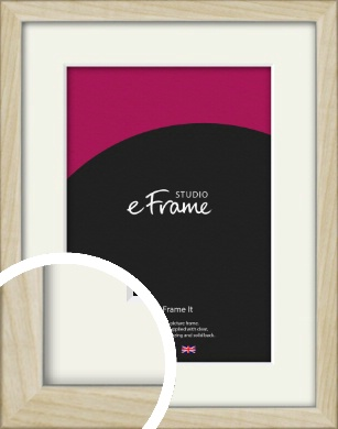 Sugarberry Natural Wood Picture Frame & Mount (VRMP-865-M)