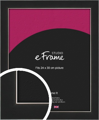 Straight Edge Onyx Black Picture Frame, 24x30cm (VRMP-867-24x30cm)