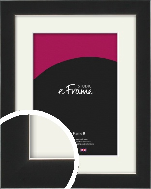 Straight Edge Onyx Black Picture Frame & Mount (VRMP-867-M)