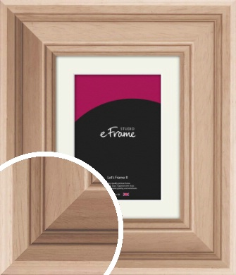 Country Light Natural Wood Picture Frame & Mount (VRMP-674-M)