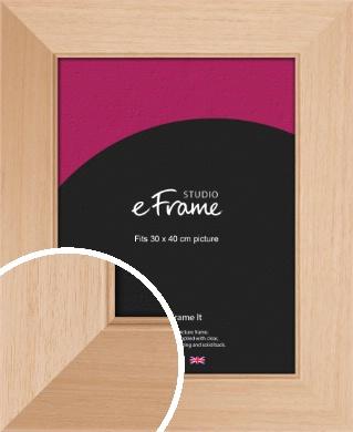 Brushed Natural Wood Picture Frame, 30x40cm (VRMP-268-30x40cm)