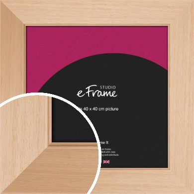 Brushed Natural Wood Picture Frame, 40x40cm (VRMP-268-40x40cm)