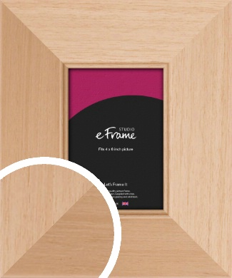 Brushed Natural Wood Picture Frame, 4x6