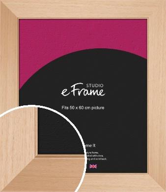 Brushed Natural Wood Picture Frame, 50x60cm (VRMP-268-50x60cm)