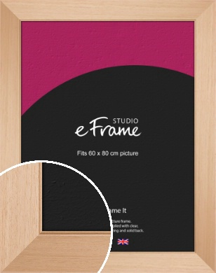 Brushed Natural Wood Picture Frame, 60x80cm (VRMP-268-60x80cm)