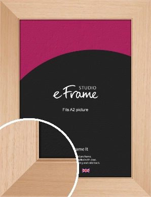 Brushed Natural Wood Picture Frame, A2 (420x594mm) (VRMP-268-A2)