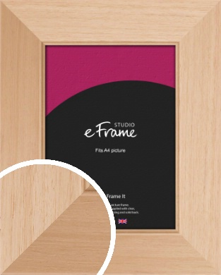 Brushed Natural Wood Picture Frame, A4 (210x297mm) (VRMP-268-A4)