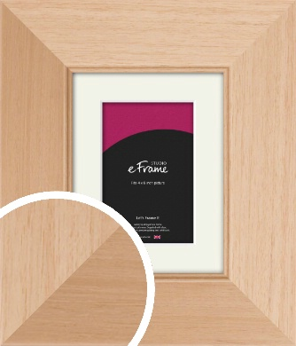 Brushed Natural Wood Picture Frame & Mount, 4x6