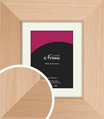 Brushed Natural Wood Picture Frame & Mount, 6x8