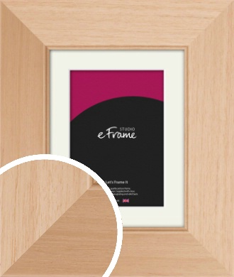 Brushed Natural Wood Picture Frame & Mount (VRMP-268-M)