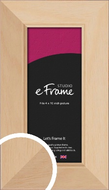Country Home Vibe Natural Wood Picture Frame, 4x10
