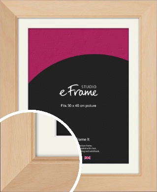 Country Home Vibe Natural Wood Picture Frame & Mount, 30x40cm (VRMP-267-M-30x40cm)