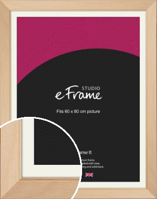 Country Home Vibe Natural Wood Picture Frame & Mount, 60x80cm (VRMP-267-M-60x80cm)