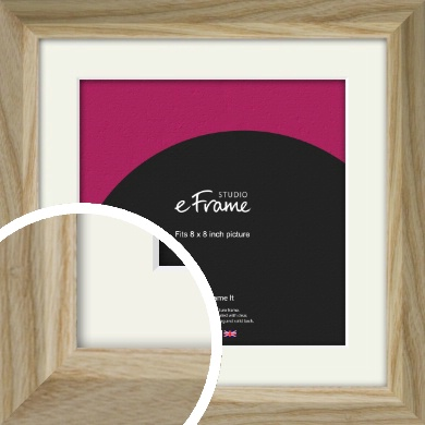 Distinguished Grain Natural Wood Picture Frame & Mount, 8x8
