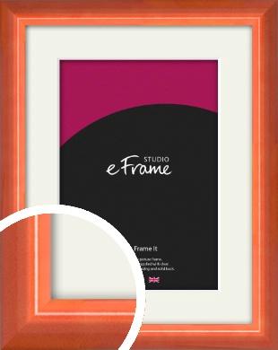 High Gloss Marmalade Orange Picture Frame & Mount (VRMP-873-M)