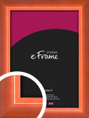 High Gloss Marmalade Orange Picture Frame (VRMP-873)