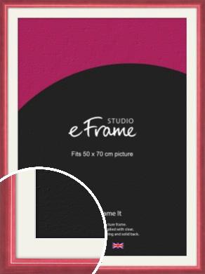 High Gloss Cerise Pink Picture Frame & Mount, 50x70cm (VRMP-874-M-50x70cm)