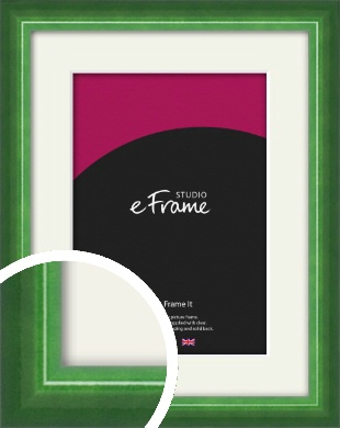High Gloss Emerald Green Picture Frame & Mount (VRMP-875-M)