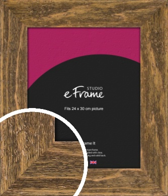 Wide Barnwood Effect Brown Picture Frame, 24x30cm (VRMP-879-24x30cm)
