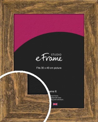 Wide Barnwood Effect Brown Picture Frame, 30x40cm (VRMP-879-30x40cm)