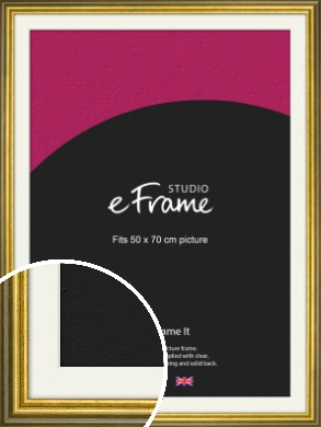 Rustic Gold Picture Frame & Mount, 50x70cm (VRMP-880-M-50x70cm)