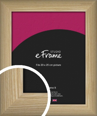 Linear Grain Natural Wood Picture Frame, 20x25cm (8x10